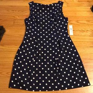 Eliza J polka dot bow back dress